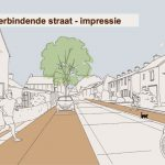 Impressie verbindende straat