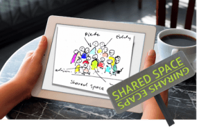 Shares Space op tablet van Leon Lurvnk