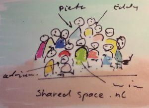 Tekening medewerkers project Shared Space